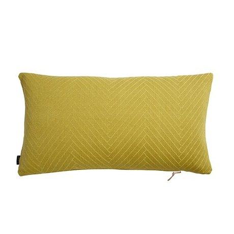OYOY Cojín de espiga mullido 40x70cm amarillo de algodón