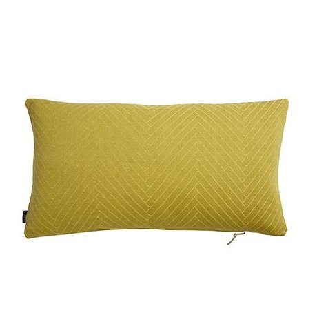 OYOY Coussin Herringbone Fluffy coton jaune 40x70cm