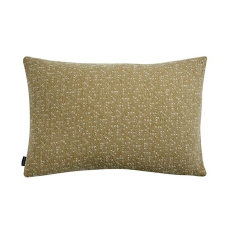 OYOY Pillow Tenji yellow and white wool 40x60cm