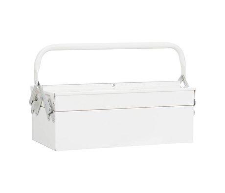 Housedoctor Storage Boxes TOOL white metal 42x20xh11,5cm