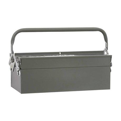 Housedoctor Boîtes de rangement TOOL vert 42x20xh11,5cm métal