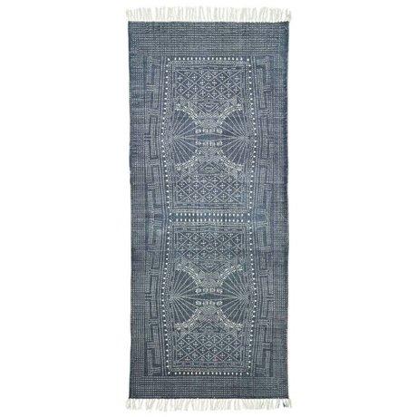 Housedoctor Teppich Iza grau weiße Baumwolle 85x237cm