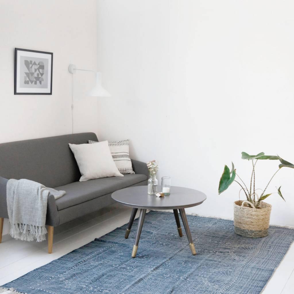 Housedoctor Tapis Iza Gris Coton Blanc 160x230cm Lefliving Com