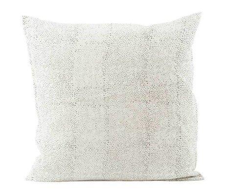 Housedoctor Spots funda de almohada 50x50cm lino blanco