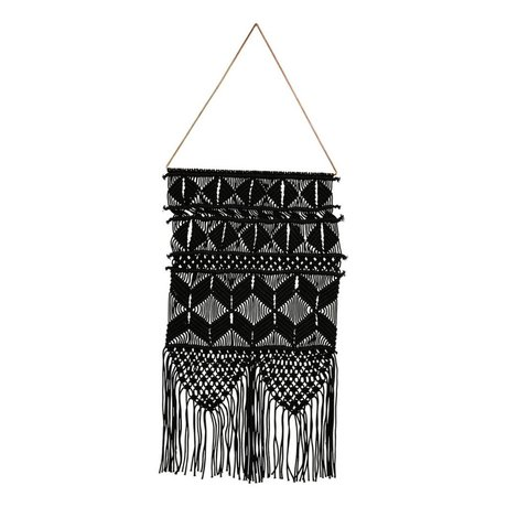 Housedoctor Tapisserie artésienne noir métallisé coton 32x60cm