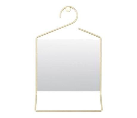 Housedoctor Cuelgue el espejo de cristal del metal de oro 50x32x7cm