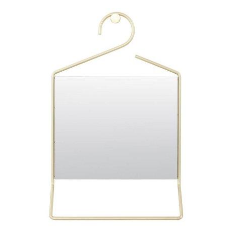 Housedoctor Hang spejl guld metal glas 50x32x7cm