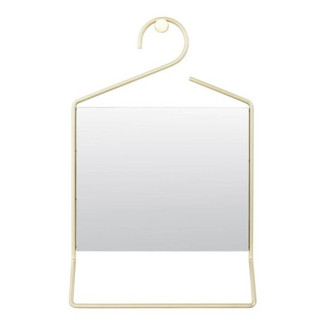 Housedoctor Hang Spiegel Gold-Metall-Glas 50x32x7cm