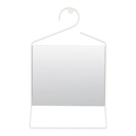 Housedoctor Hang metallo bianco 50x32x7cm specchio