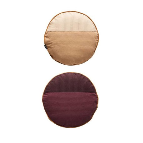 OYOY Pillow PI sided multicolored burgundy cotton Ø38cm