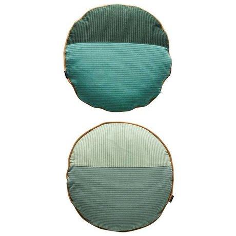 OYOY multicolore coton Ø48cm gris Oreiller PI-face
