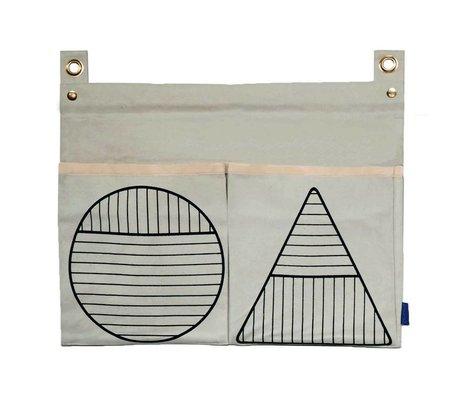 OYOY Repo white cotton storage bag 60x43cm