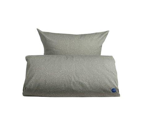 OYOY Couette étoilé 140x200 adulte coton blanc gris