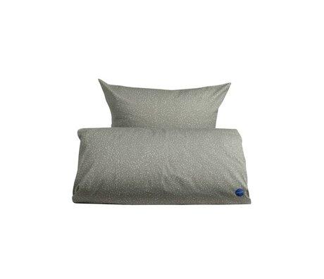 OYOY Couette étoilé junior gris coton blanc 100x140cm