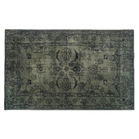 HK-living Rug army green multicolour cotton 180x280cm