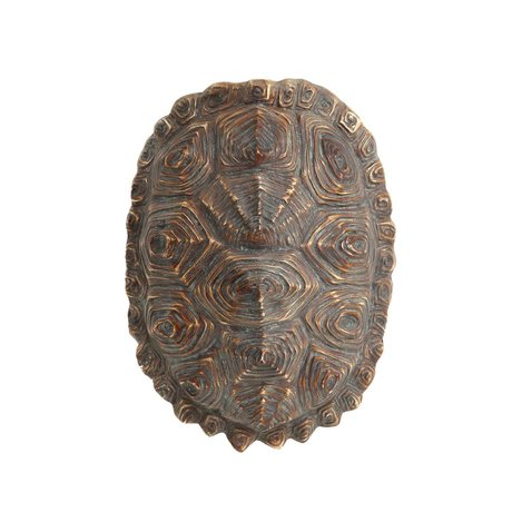 HK-living artificial green turtle shell brown plastic 27x20x13,5cm