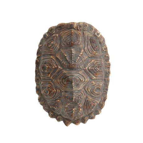 HK-living künstliche grüne Schildkröte Schale braun Kunststoff 27x20x13,5cm
