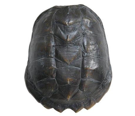 HK-living Künstlicher Schildkrötenpanzer, schwarz, Kunststoff, 34 x 28 x 11,5 cm