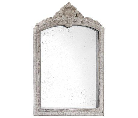 HK-living Miroir avec antique regard gris poterie 91x147x9cm