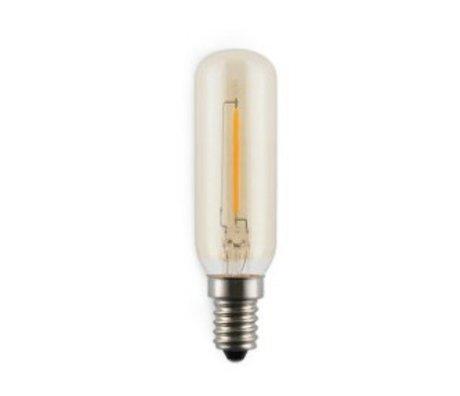 Normann Copenhagen LED pære amp førte 2W Glas & glødetråd kulstof Ø2,5x9,5cm