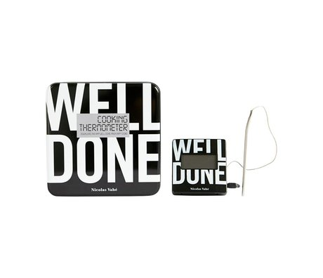 Nicolas Vahé Well done Thermometer black metal 7x7cm