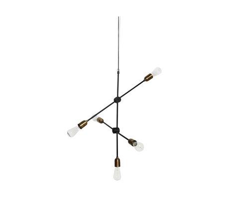 Housedoctor lámpara colgante de oro negro 78x68cm molecular del metal