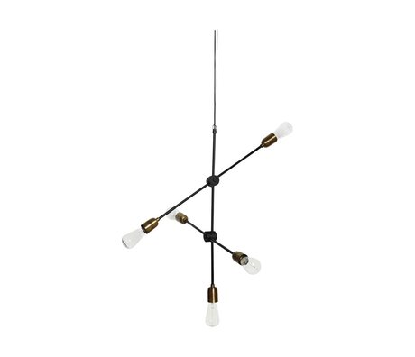 Housedoctor Molecular hanging lamp black gold metal 78x68cm