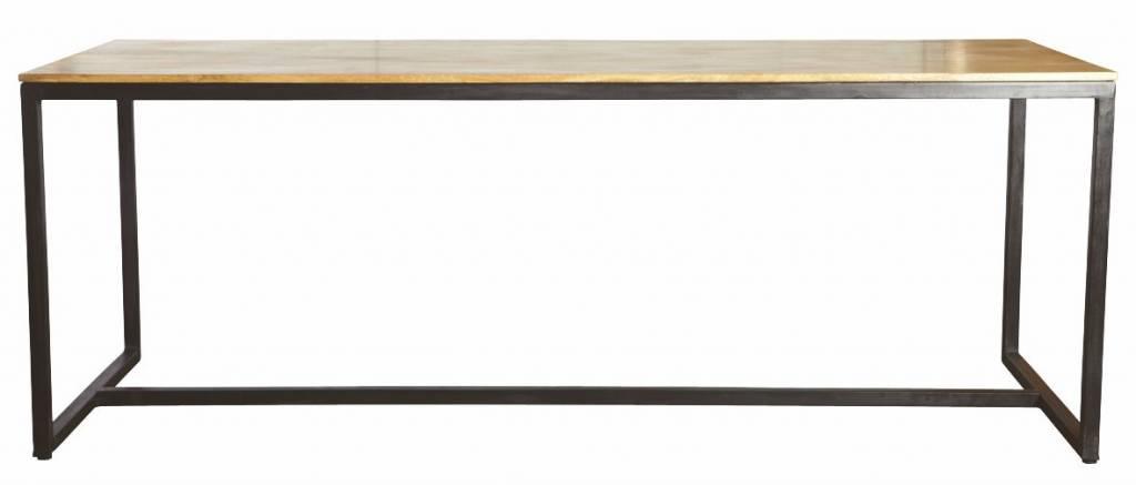 Housedoctor Tavolo da pranzo \'forma\' di ferro / legno, nero ...