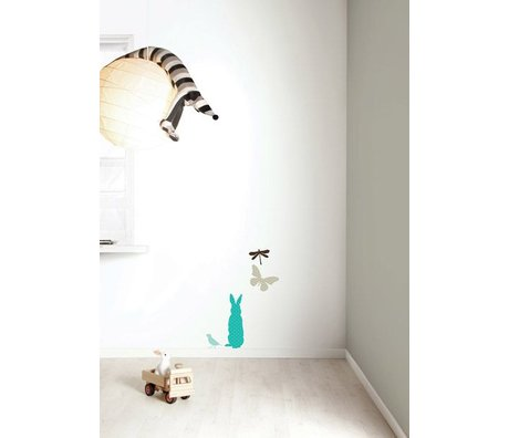 Kek Amsterdam Wall Sticker Set 'Miniset 3 BOYS' vinyle, bleu / marron