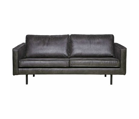 BePureHome Sofa Rodeo 2.5-seat black leather 190x86x85cm