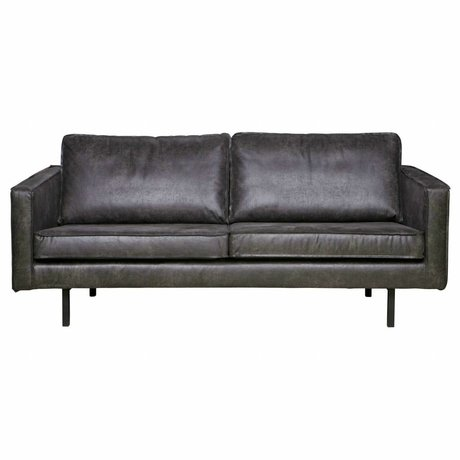 BePureHome Divano Rodeo 2,5 sedile in pelle nera 190x86x85cm
