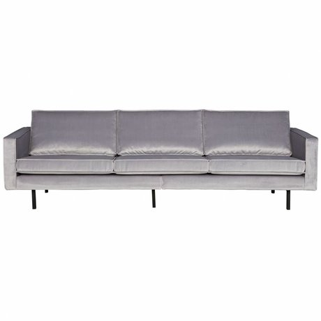 BePureHome Bank Rodeo 3 places velours gris clair velours 85x277x86cm