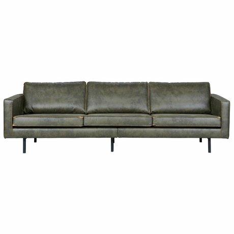 BePureHome 3-personers sofa Rodeo armygrøn læder 85x277x86cm