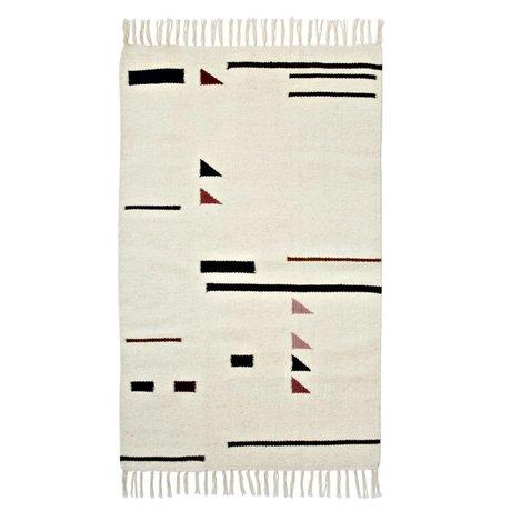 Ferm Living 80x140cm Tapis Couleur Triangles Multicolor Textile