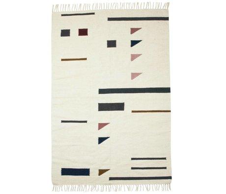 Ferm Living Teppich Farbe Dreiecke bunten Textil 140x200cm