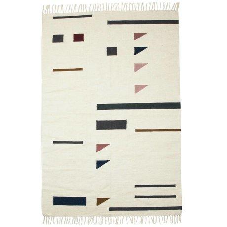 Ferm Living Carpet color triangles colorful textile 140x200cm