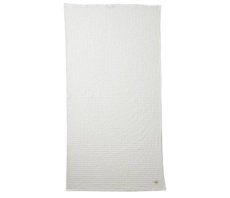 Ferm Living Økologisk hvid klud tekstil 70x140cm