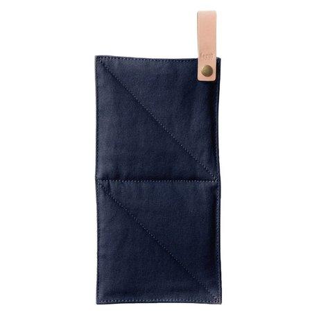 Ferm Living toile Pot textile bleu 16x26cm