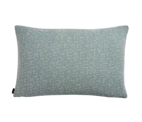OYOY Oreiller Tenji poussiéreux bleu blanc laine 40x60cm