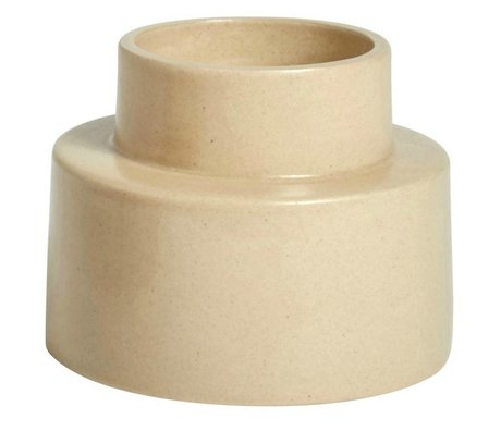 OYOY ⌀11,5x9cm cerámica marrón candelabro KANA sáhara
