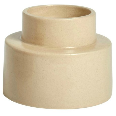OYOY Lysestage KANA sahara brun keramik ⌀11,5x9cm