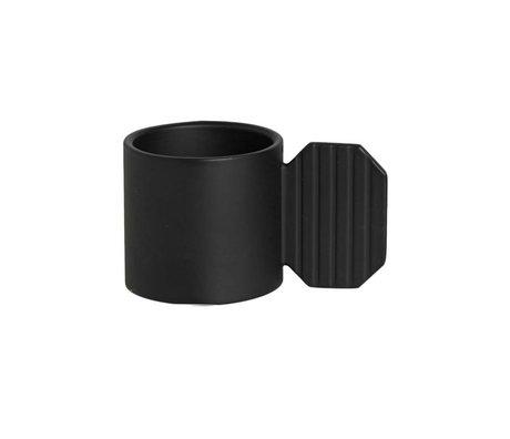 OYOY Kerzenleuchter ART HEXAGON schwarz Metall ⌀7,6x4,3cm