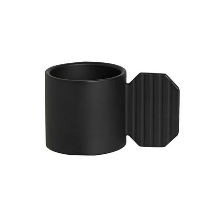 OYOY Candlestick ART HEXAGON black metal ⌀7,6x4,3cm