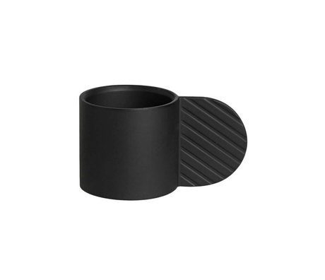 OYOY Lysestage ART CIRCLE black metal ⌀7,75x4,3cm