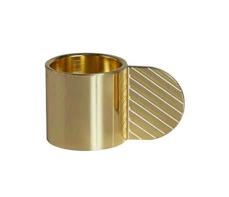 OYOY Candeliere arte cerchio di ottone metallo oro ⌀7,75x4,3cm
