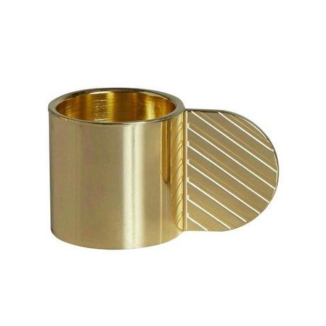 OYOY Candlestick ART CIRCLE brass gold metal ⌀7,75x4,3cm