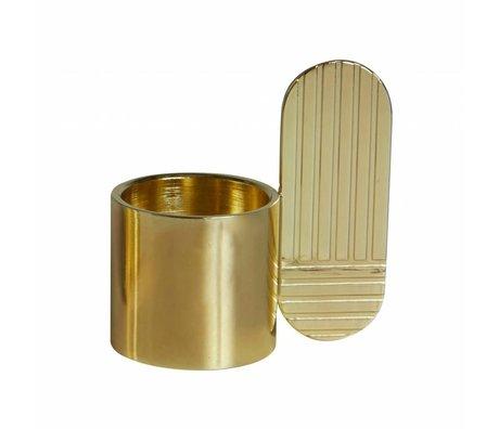 OYOY Candlestick ART OVAL laiton ⌀7,5x8cm en métal doré