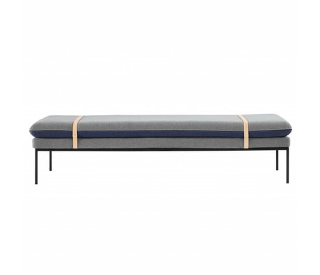 Ferm Living Bank Daybed blau Wolle 190x42x80cm