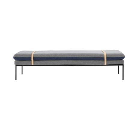 Ferm Living daybed Banca cotone blu 190x42x80cm