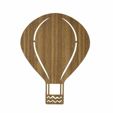 Ferm Living Wandleuchte Luftballon braunem Holz 26,5x34,55cm